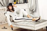 Dámské bílé elegantní kalhoty Foggi Elegant