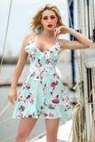 Dámské modré letní šaty s krajkou Foggi BLUE