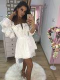 Dámské bílé letní šaty Foggi SUN s krajkou