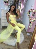 Dámský žlutý elegantní overal FoggiSUN FLOWERS