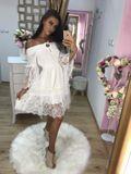 Dámské bílé letní šaty Foggi LACE