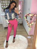 Dámské růžové kalhoty Foggi OFFICE