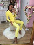 Dámské žluté kalhoty Foggi OFFICE