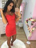Dámské červené krajkové šaty Foggi SUMMER KISS