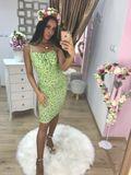 Dámské zelené mini šaty Foggi FLOWERS