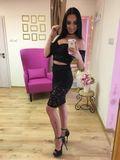 Dámský černý krajkový sukňový komplet Foggi Jeans