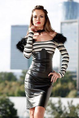 Dámská černá koženková sukně Foggi