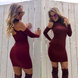 Dámské bordové šaty Foggi DARK RED