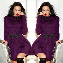 Dámské fialové šaty Foggi WINTER
