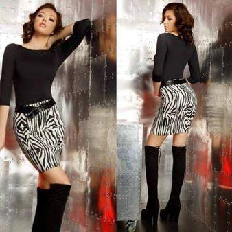 Dámská sukně se vzorem FOGGI zebra