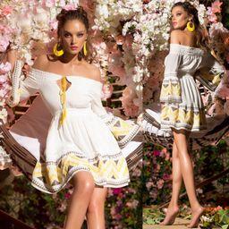 Dámské bílo-žluté šaty Foggi YELLOW SUN