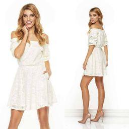 Dámské maslové krajkové šaty LISA