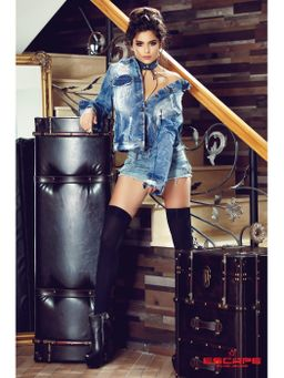 Dámské potrhané džínové šortky ESCAPE DENIM