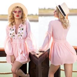 Dámské růžové šaty Foggi PINK FLOWER