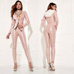 Dámské růžové slim kalhoty Foggi ROMANTIC